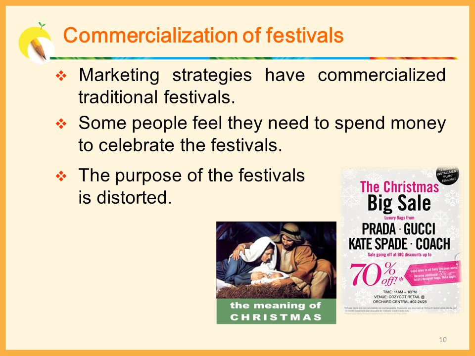 commercialization of festivals