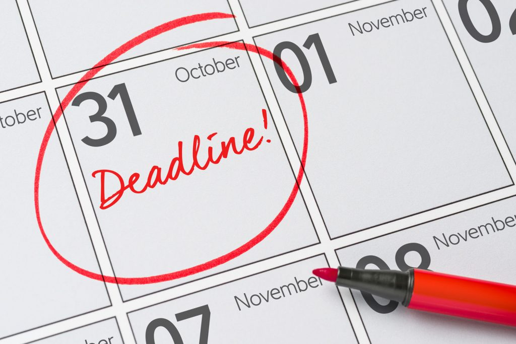 put a deadline to your goal