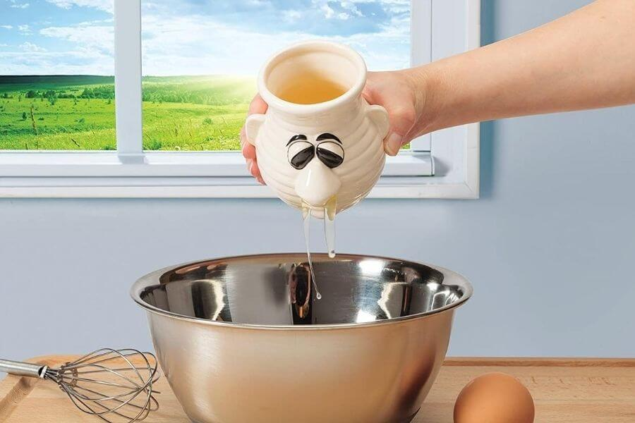 The Product That Separates Egg Yolks