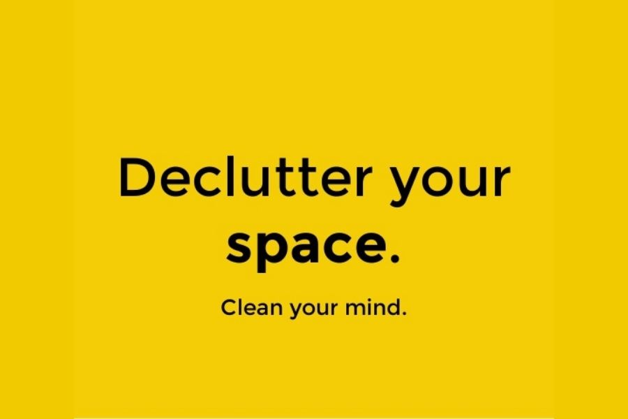 Decluttering your space is a fun, productive way to utilise your time when you are feeling bored.
