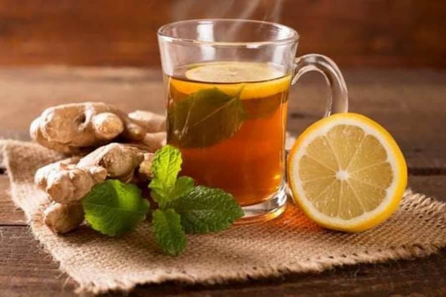 Drink ginger tea to ease your migraine.